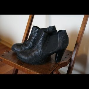 B.O.C. leather ankle boots - Black Size 11